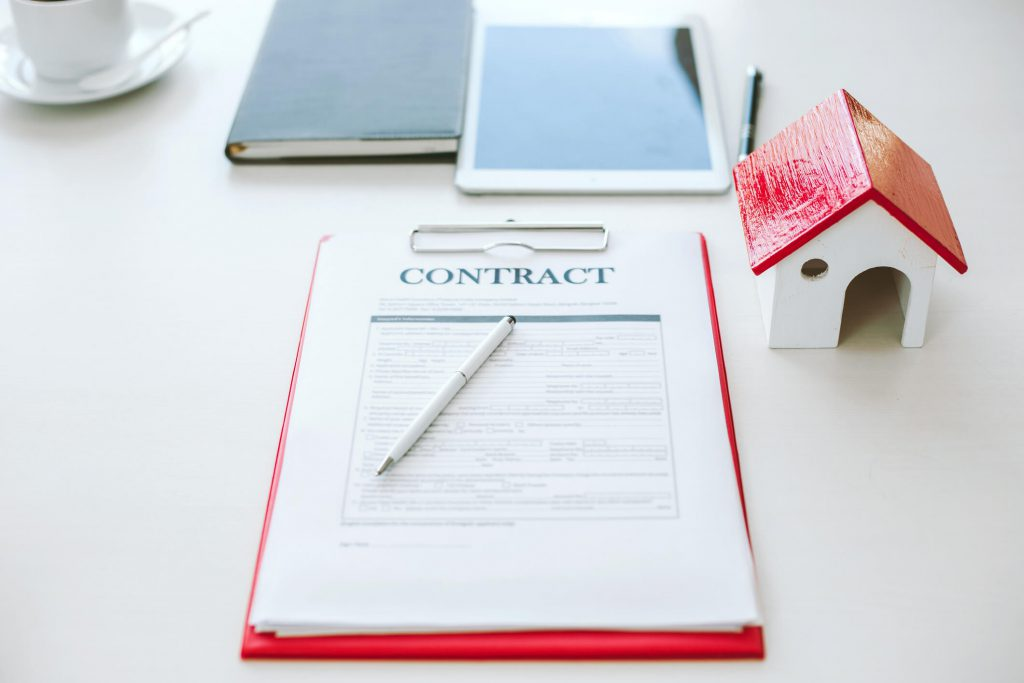 Rental Home Owner Signing Property Management Contract